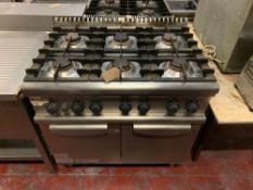 Electrolux Professional 7BT0G9 6 Burner Gas Range With Oven - 90cm X 70cm X 90cm