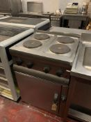 Lincat-HT6-4-Plate-Boiling-Top With V6-D-Electric-Oven 60 X 60 X 91cm