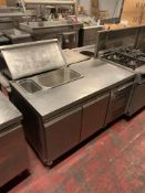 Gram KB1407SL2 2 Door Pizza preparation Unit Stainless Steel Capacity Gross 345 Litres