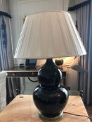 Heathfield And Co Gourd Textured Ceramic Table Lamp With Shade 70cm (Room 206/7)