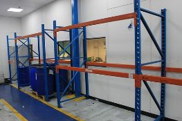 Redirack 4 bays of industrial racking each bay 2300mm x 2430mm (H)
