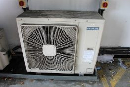 Hitachi RAS-4HVRNS2E Mono split air conditioning unit with outside unit dimensions 950 x 370 x 800mm