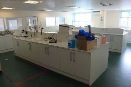Complete Laboratory cabinets and under bench units white waterproof melamine resin coated faces