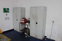 2 x Realspace Regular Two Door Cupboard Lockable with internal shelve 920 x 420 x 1960mm