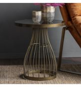 Southgate Side Table Bronze It boasts of an art-deco inspired design that works perfectly with