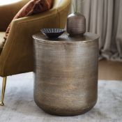 Ashta Side Table offering a perfect centre piece in your living space. The sleek antique brass