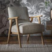 Neyland Armchair Pebble Linen This stunning Neyland Pebble Linen Armchair offers a comfortable place
