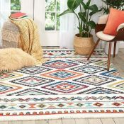 Navaro Rug Inspired by Native American textiles, bring home a lively tribal theme with the
