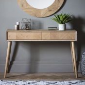 Milano 2 Drawer Console Table The stunning Milano 2 Drawer Console Table features a beautiful