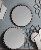 Novia Mirror Bronze This Modern Round Wall Mirror has a overlapping bronze coloured frame As round
