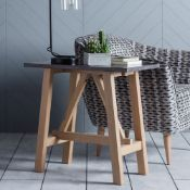 Brixton Burnished Sofa Table The Brixton side table is a versatile as well as stylish piece of