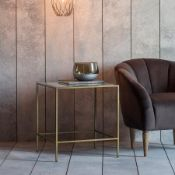Rothbury Side Table Bronze W500 x D500 x H550mm Introducing you to our stunning Rothbury Side