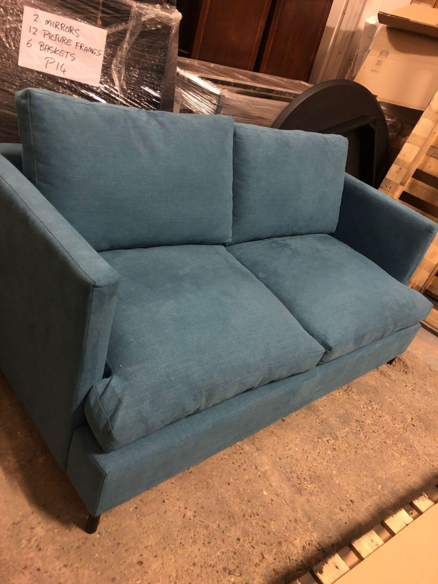 Weyburn 3 Seater Sofa Bed Turquoise The Weyburn 3 Seater Sofabed Is A Both Versatile And Stylish - Image 2 of 2
