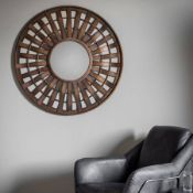 Mitcham Mirror Bronze in colour, this rustic round wall mirror will help finish off the look you