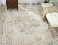 Fusion Traditional Pattern Rugs FSS11 in Cream and Multi by Nourison The Fusion Collection in