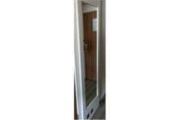 Curtis Contract Furniture Full Length Dress Mirror White 534 (w) x 50 (d) x 2150mm (h)