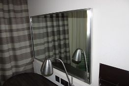 Curtis Contract Furniture Landscape Aluminium Framed Mirror with a subtle metal frame and minimalist