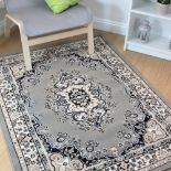 Lancaster Grey Traditional Rugs Large Classic Pattern Carpet Introduce A Traditional Centrepiece