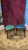 4 x Vienna Side Chair Designed By Vienna Chairs A Classic Beech Dark Stained Chair With A Steam Bent
