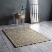 Arizona Rug Grey/Ochre Beautiful Statement Rug Which Is Crafted From A Wonderful Cotton Material