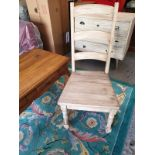 A Pair Of Farmhouse Dining Chair A Rustic Take On The Traditional Ladder-Back Dining Chair This