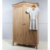 Chic 2 Door Wardrobe Weathered Handcrafted From Solid Mindi Ash Wood Traditionally Constructed.