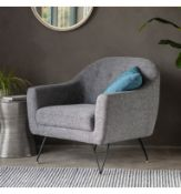 Volda Armchair Space Grey The Volda Armchair In Space Grey Is A Retro-Inspired Chair That Adds A