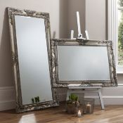 Hampshire Leaner Mirror Silver Beautifully Decorative Wood Framed Full Length Mirror In A Hand