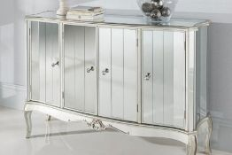 Argente Mirrored Four Door Sideboard This is one of the larger pieces in this glamorous range,