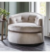 Mayfair Luxury Swivel Armchair The Mayfair Collection Features Deep Pulled Stitching Detailing And A