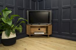 Ripple Corner TV Unit 2 Doors Mid Century Style Media Unit Take Iconic Design And Beautiful