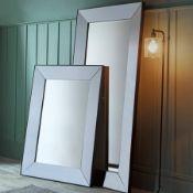 Vasto Rectangular Euro Grey Stylish And Versatile, The Vasto Leaner Mirror Serves As A Practical