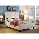 Duchess King Size Sleigh Bed Champagne Velvet A truly glamourous sleigh bed. This bed frame is fully