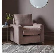 Hambleton Armchair Denim Blue Simple In Its Design, The Utility Style Hambleton Collection Is Made