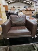 Lounge Chair In Bomstad Brown A Comfortable Lounger Seat Cushions Filled With High Resilience Foam