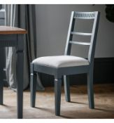 A Pair Bronte Dining Chair In Storm Is Made Using Painted Mahogany Solids With An Upholstered