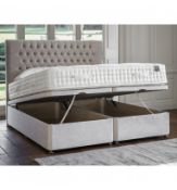 Gallery Superior Ottoman 150x180cm Shearwater Lght Grey Hydraulic Pistons Glides as stanard Solid