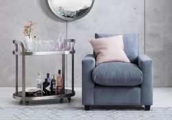 Mimi Armchair in Silver Spoon Classically Classic Meet Mimi, our take on classic perfection.