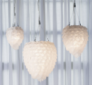 Pharohs Petal Pendant Frosted Medium Our Pharaoh pendant lamp is made from hand cut frosted glass