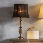 Martino Table Lamp Martino Classic Table Lamp With Decorative Antique Gold Base And Fluted Black