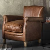 Mr. Paddington Chair Vintage Brown Leather The Mr. Paddington chair is full of personality with