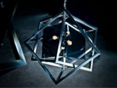 Michael Yeung Cubis Pendant Lamp In Matt Black 30cm Brand New ( Loc H )