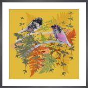 Birdies 4 Framed art print by Tiffany Lynch framed on Matt 250gsm conservation digital paper Tiffany