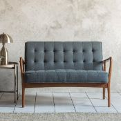 Humber 2 Seater Sofa Dark Grey Linen This Humber two seater sofa stands out from the crowd with