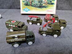 Sesame 6 Miniature Plastic Military Vehicles Aux Grandes Manoeuvres