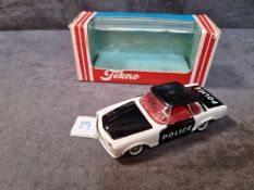 Tekno Diecast Rare #928 Mercedes 280 Police Car With Excellent Firm Box Made In Denmark