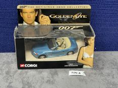 Corgi #04901 BMW Z3 Roadster James Bond - Blue - James Bond BMW Z3 Roadster With Working Features In