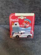 Majorette Diecast #200 Coca Cola White 58 Chevy Corvette Radio Grill On Original Card