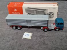 Vintage Wiking Germany HO 1:87 Scale 52g Mercedes LPS 1620 Tractor Trailer