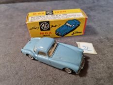 Tekno Diecast #824 MGA 1600 In Blue With A White Interior Mint Model With Firm Excellent Box Made In